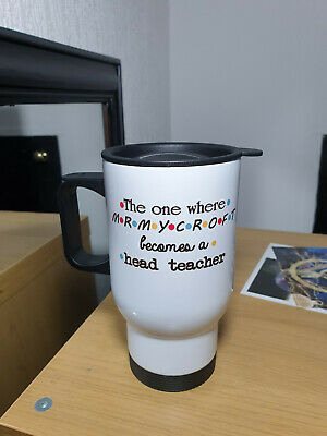 £14.99 • Buy Personalised Friends TV Show The One Where Thermal Travel Mug Teacher Funny Gift