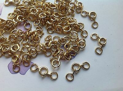 £3.20 • Buy Bolt Ring Clasp + Tag Vintage Goldtone 11mm CRAFT REPAIR Pack Of 15 Post Free