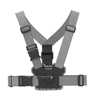 AU36.22 • Buy TELESIN Universal Chest Strap Mount Belt Harness For GoPro OSMO Action Camera