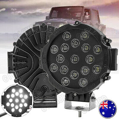 AU60.99 • Buy Pair 7 Inch 51W CREE Round LED Driving Lights Spot Light OffRoad Truck Headlight