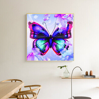 AU11.12 • Buy 5D Diamond Painting Butterfly Embroidery Cross Craft Stitch Arts Mural Decor LD