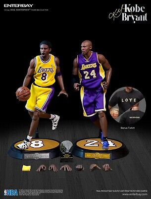 $599 • Buy NBA Enterbay Masterpiece Kobe Bryant 1/6 Scale Figures Two Pack Jersey 8 & 24