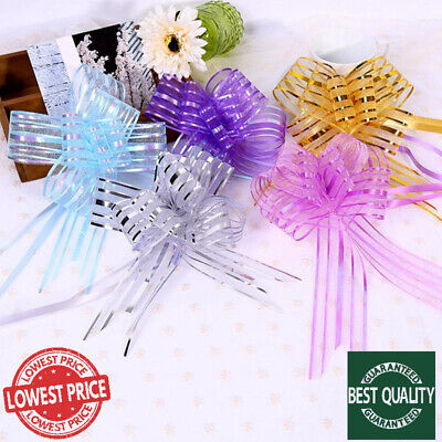 LARGE 30mm Ribbon Assorted Color Organza Pull Bow Flower Ribbon Party Decoration • 1.99£