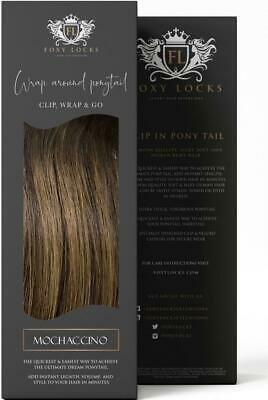 $83.69 • Buy Foxy Locks Wrap Around Clip In Ponytail - 100% Human Hair - 20+ Colours - 12-26