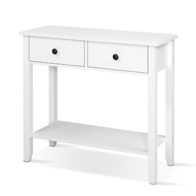 AU87.03 • Buy Hallway Console Table Hall Side Entry 2 Drawers Display White Desk Furniture