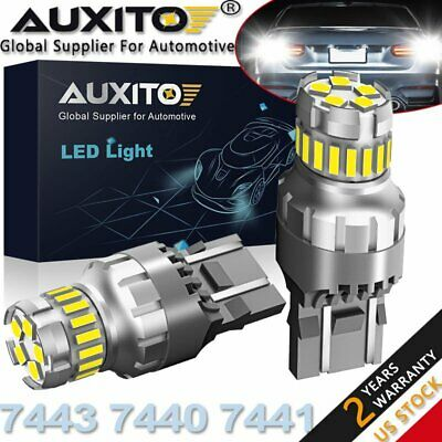 $11.59 • Buy 2X AUXITO 7443 7440 23SMD LED Reverse Brake Stop DRL Light Bulb 6500K CANBUS US