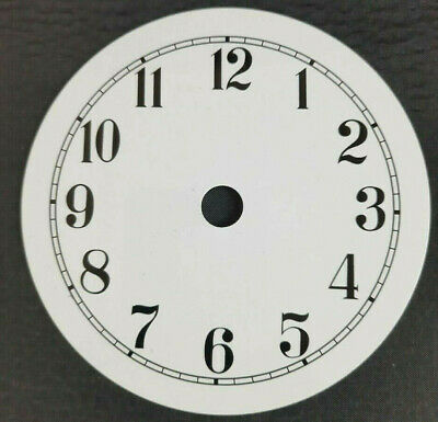 £11.95 • Buy NEW - 4 Inch Clock Dial Face - White - 102mm Arabic Numerals - DL111