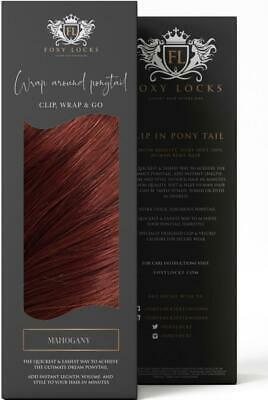 $223.19 • Buy Foxy Locks Clip In Human Remy Wrap Ponytail - Mahogany Red #33 - 12 -26