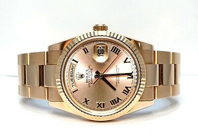 £20995 • Buy ROLEX Day-Date 36 Rose Gold 2011 118235 Oyster Bracelet Roman Dial Box & Papers