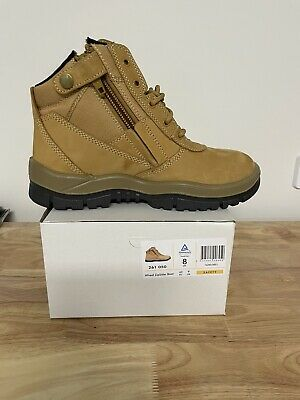 AU89.95 • Buy Mongrel Boots 261050,Wheat, Zip Sider, Steel Toe Safety Work Boots,