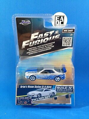 AU12.95 • Buy 2016 Jada Fast And Furious Build N' Collect Brians Nissan Skyline Gt-r R34