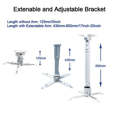 AU39.99 • Buy Wall Ceiling Bracket Mount Adjustable For Epson Projector Stand 44lbs Holder AU