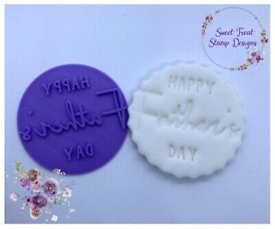 £4.89 • Buy Father's Day Embosser Stamp For Fondant Cupcake Cake Cookie Cookies