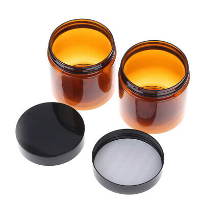 £5.08 • Buy 200ml Amber Brown Cosmetic Face Cream Bottles Lip Balm Sample Container Jar PPT