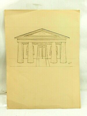 £7.04 • Buy Original Architectural Drawing Ink And Charcoal 4/1914