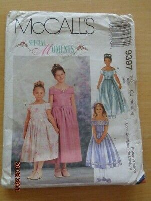 McCall's Sewing Pattern No. 9397 - Girls Bridesmaid/Party Dress - Size 10-12-14y • 3£
