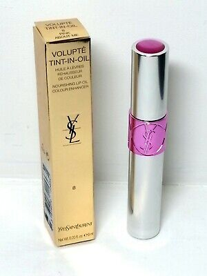 £14.99 • Buy Yves Saint Laurent Volupté Tint-in-Oil, #8 Pink About Me Lip Gloss 6ml New Boxed