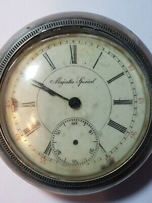 $59.99 • Buy Antique Majestic Special 21 Jewels Pocket Watch LARGE Size In Silverode Case