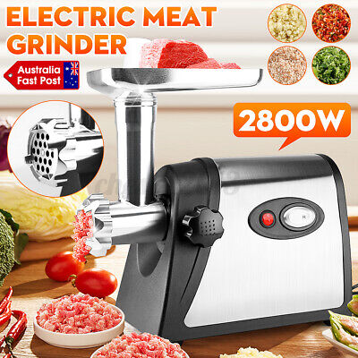 AU43.59 • Buy 2800W Electric Meat Grinder Mincer Sausage Filler Kibbe Maker Stuffer Kitchen