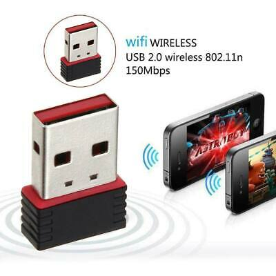 £3.59 • Buy 150Mbps Wireless USB Adapter WIFI Internet Dongle 802.11 B/G/N For Windows7 8 10