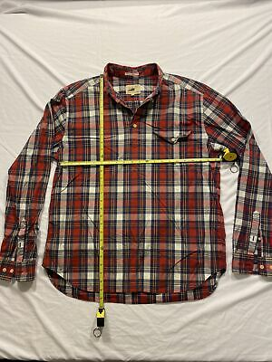 £20.89 • Buy Gant Rugger The Pullover Red Blue Check Plaid Long Sleeve Shirt Mens Size XL