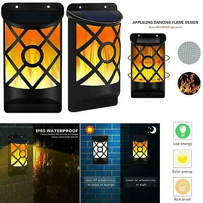 £16.95 • Buy Solar Flame LED Lights Wall Fence Door Shed Garden Outdoor Flickering Torch Lamp