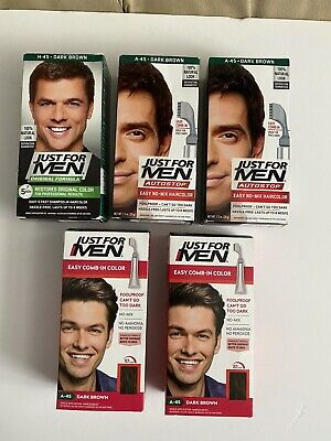 £21.54 • Buy Just For Men Autostop Hair Color, Medium Brown*Qty-5