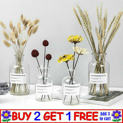 £6.99 • Buy Vintage Style Clear Bottle Recycled Glass Eco Bud Vase Wedding Table  Home Decor