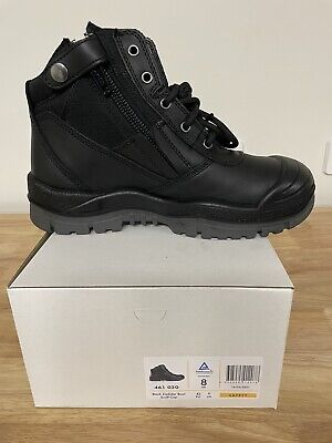AU94.95 • Buy Mongrel Boots 461020,Black,Scuff Cap, Zip Sider, Steel Toe Safety Work Boots,