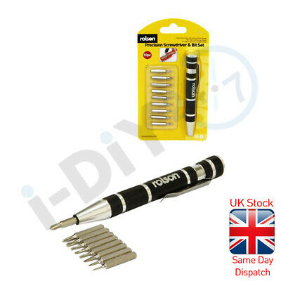 £2.99 • Buy Rolson 9 In1 Magnetic Precision Screwdriver Set Electronic Spectacles Jewellery