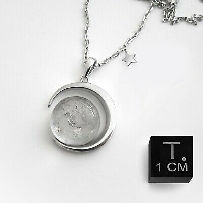 £116.35 • Buy Real Moon Dust Meteorite Necklace, With A Sample From Lunar Meteorite NWA 5000