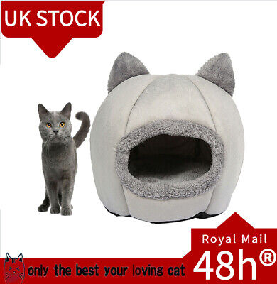 £13.66 • Buy Puppy Cat Bed Cave Cozy Pet Dog Igloo Bed Warm House Nest Kennel Grey Dog🌰