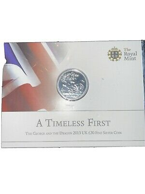 £24.99 • Buy 2013 St George And The Dragon £20 Twenty Pound Silver Coin Mint Pack Sealed