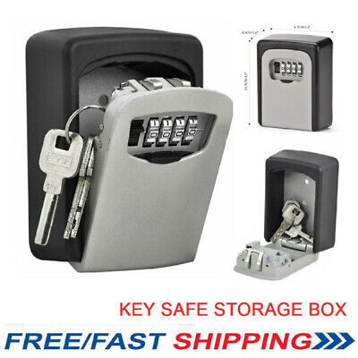 OUTDOOR SECURITY WALL MOUNTED KEY SAFE BOX CODE SECURE LOCK STORAGE 4 Digit • 10.49£