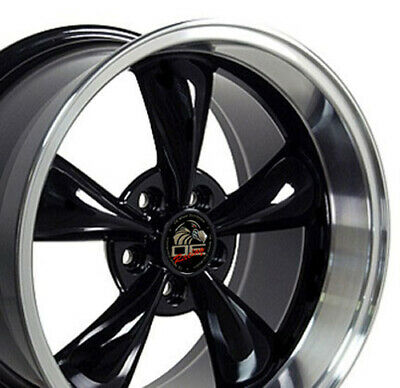 $136 • Buy Gloss Black 17  Replacement Wheel 17x10.5 Ford Mustang Bullitt Style FR01