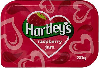 £5.75 • Buy 20 X Hartleys Raspberry Flavour Jam 20g Individual Portions - Long Dates 2022