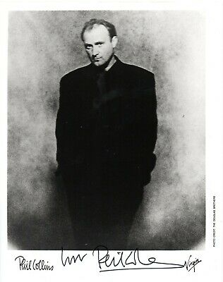 £165 • Buy Phil Collins  Genesis  Hand Signed 10x8 B/W Music Promo Photo Autographed B
