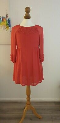 £13 • Buy Coral Monsoon Occasion Shift Dress, Size 14