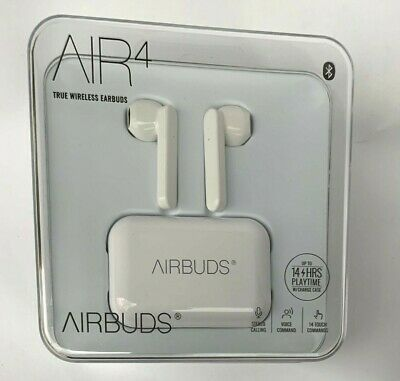 $ CDN31.30 • Buy Airbuds AIR 4 True Wireless Earbuds With Charging Case, White  -NEW-