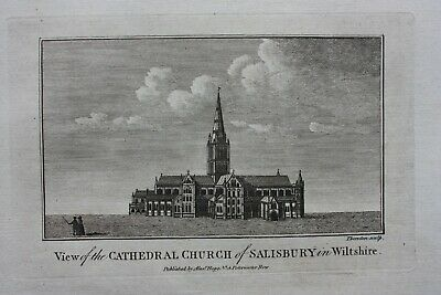£16 • Buy SALISBURY CATHEDRAL, WILTSHIRE, Original Antique Print, Boswell, 1786
