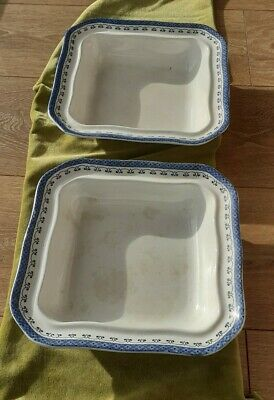 £20 • Buy Pair Of Maling Ware Oriental Blue Serving Dishes