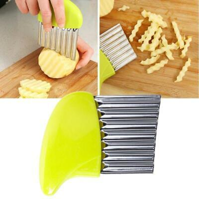 £2.84 • Buy Durable Stainless Steel Crinkle Cutter Knife Chip Wavy Chopper Kitchen Potato