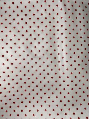 Cabbages And Roses Scoopy  Fabric - Red & White Spot Oil Cloth Fabric - Rare • 45£