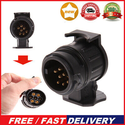 13 To 7 Pin Trailer Truck Electric Towing Converter Tow Bar Plug Adapter Socket • 3.19£
