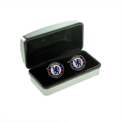 £14.99 • Buy Officially Branded Chelsea Football Club Cufflinks In A Chrome Box X100CFC