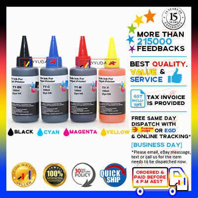 AU22.90 • Buy 4 X 100ml Refill 39XL Ink For Epson Expression Home XP2105 XP4105 XP-2105/4105
