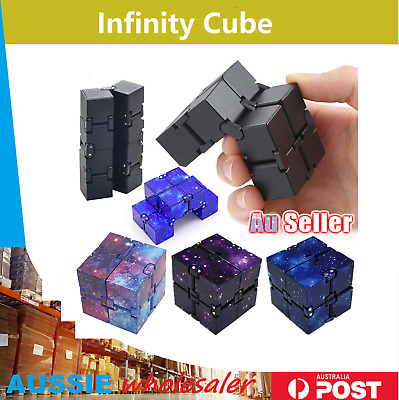 AU4.95 • Buy Infinity Cube Fidget Toys Magic Puzzle Sensory Autism Anxiety ADHD Stress Relief