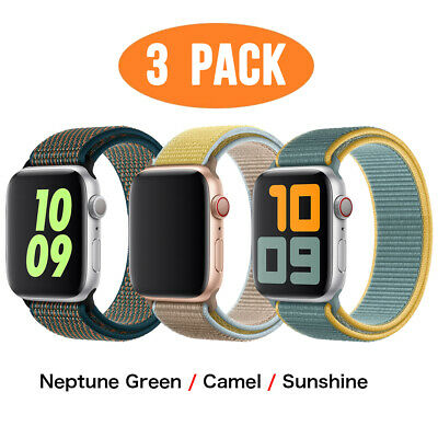 AU13.99 • Buy 3 PACK Nylon Sport Band Strap Fit Apple Watch Series 6 5 4 2 3 1 IWatch 38MM