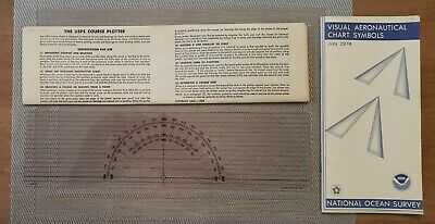 £9.88 • Buy 1968 USPS Course Plotter With Original Sleeve + 1974 NOAA Chart Symbols Booklet