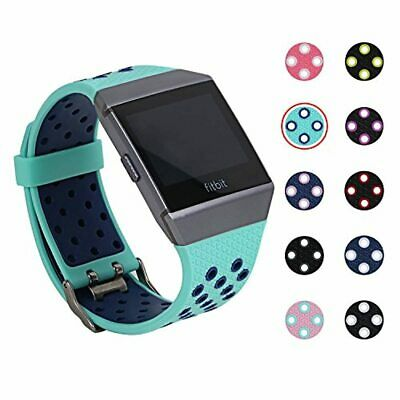 AU22.48 • Buy Fitbit Ionic Bands, Mtsugar Two-color Compression Breathable Replacement Wristba
